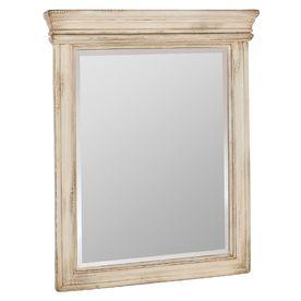 "ESTATE by RSI 33""H x 27""W Vintage Antique White Rectangular Bath Mirror"