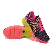 Nike 0108 Air Max Girls Womens Breathable Mesh Sports Running shoes (Black)