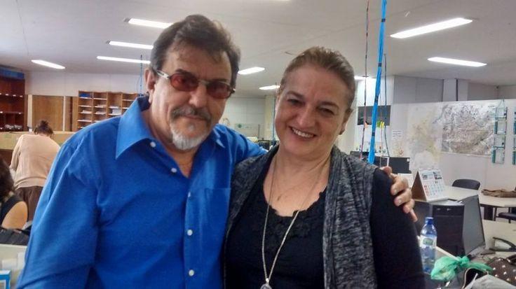 """13/5/2015 - Nelson Douglas com Maria Aparecida, """"ótima pessoa, honestidade, generosidade e competência"""""""