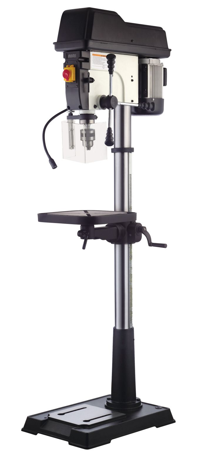 This Heavy Duty Floor Model Drill Press Is The Mainstay In Any Shop With 12 Speeds And Powerful 3 4 Hp Motor Features C Drilling Machine Drill Press Mainstays