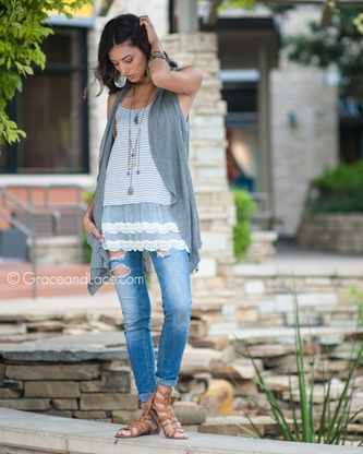 Striped Top Extenders - Grace and Lace