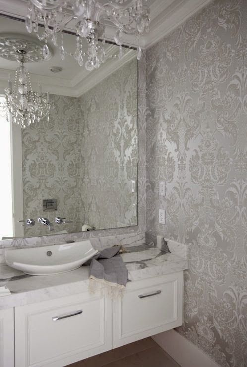 Carta Da Parati Per Bagno.Carta Da Parati Per Bagno Home Renovation Powder Room Wallpaper