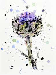 Image result for thistle flower painting