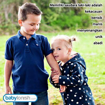 Siapa punya kakak / adik laki-laki pasti mengerti...  Treasure your family  Quote from www.babylonish.com