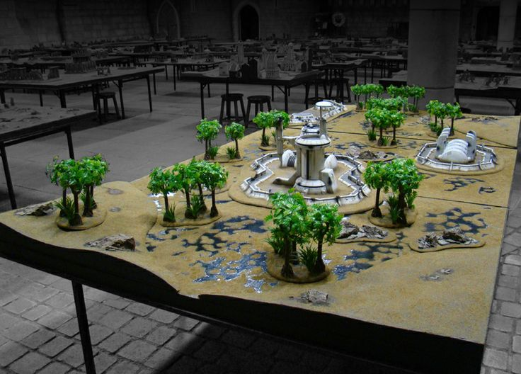 The Events Hall and Gaming Tables | Warhammer World | Games Workshop | Wargaming Terrain ...