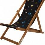 Damien Hirst deck chair black