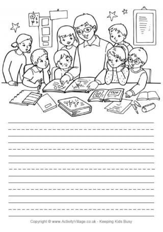 Teacher and Children Story Paper