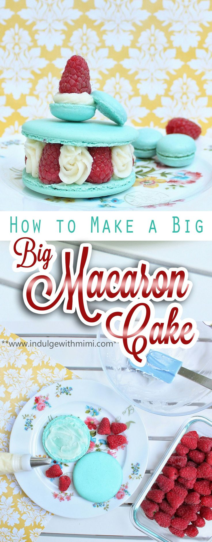 Tutorial and important tips on how to successfully bake a big macaron cake.