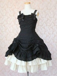 this looks like a fun saloon girl dress. short or long, it would be awesome in just about any color