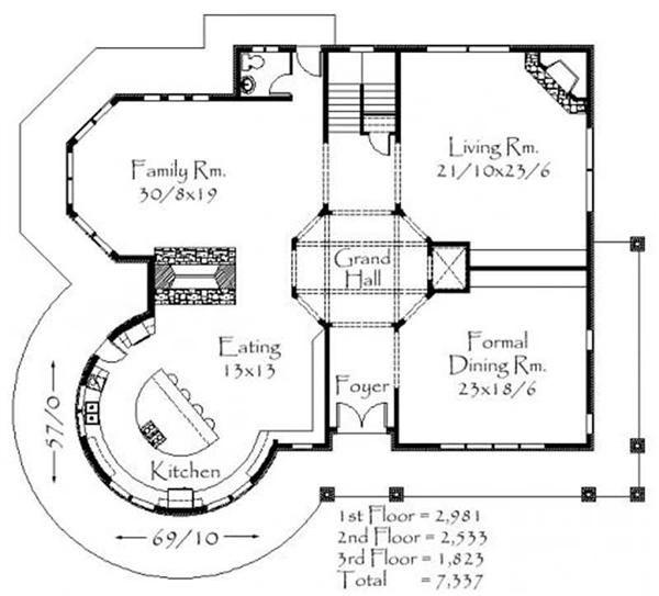 147 best floor plans images on pinterest dream house for Unique country house plans