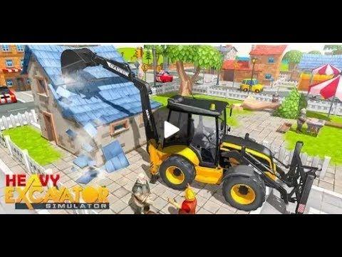 Kepçe Kamyon Simulatörü Inşaat Oyunu Ekskavatör çocuk Oyunları