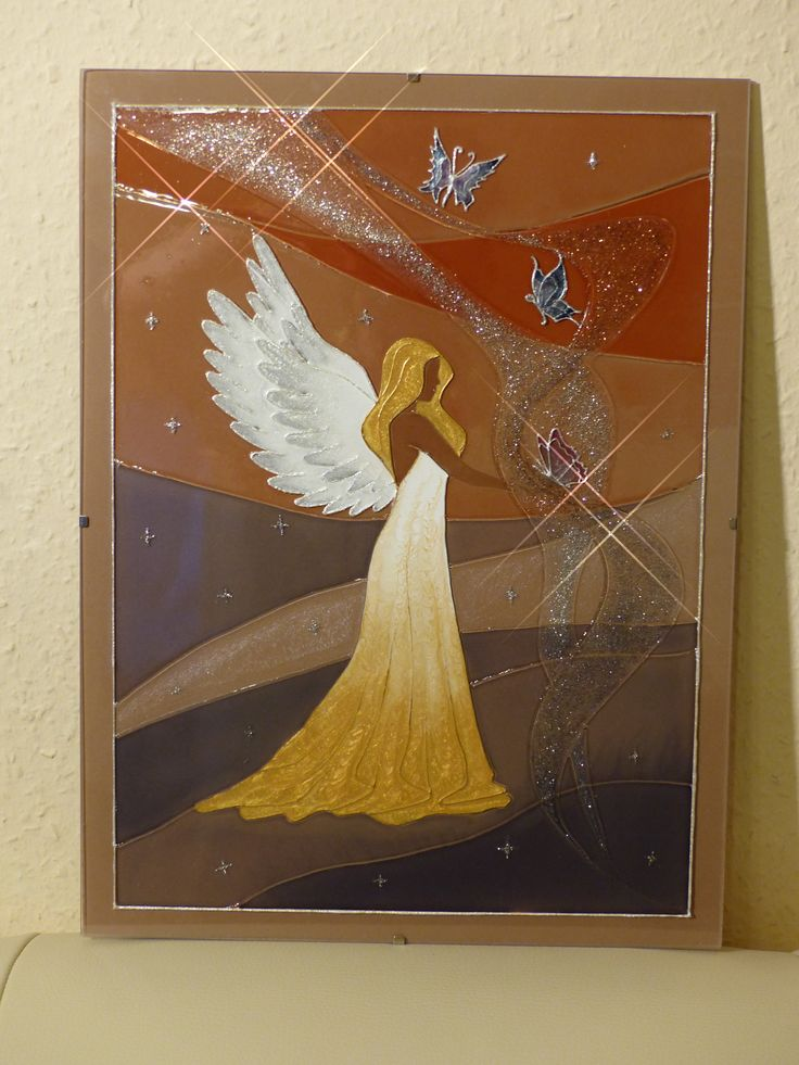 stained glass - Angel = Üvegfestés - Angyal
