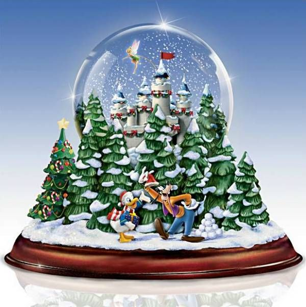 Musical Snow Globes With Light | ... Christmas Musical Snow Globe w Lights Swirling Snow Free s H | eBay