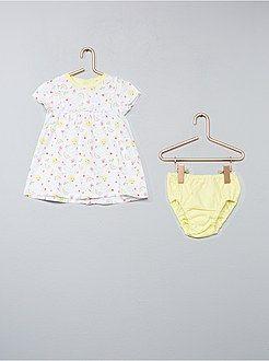 Niña 0-36 meses - Conjunto de vestido + braguita estampado  sol ... 17c21e29150