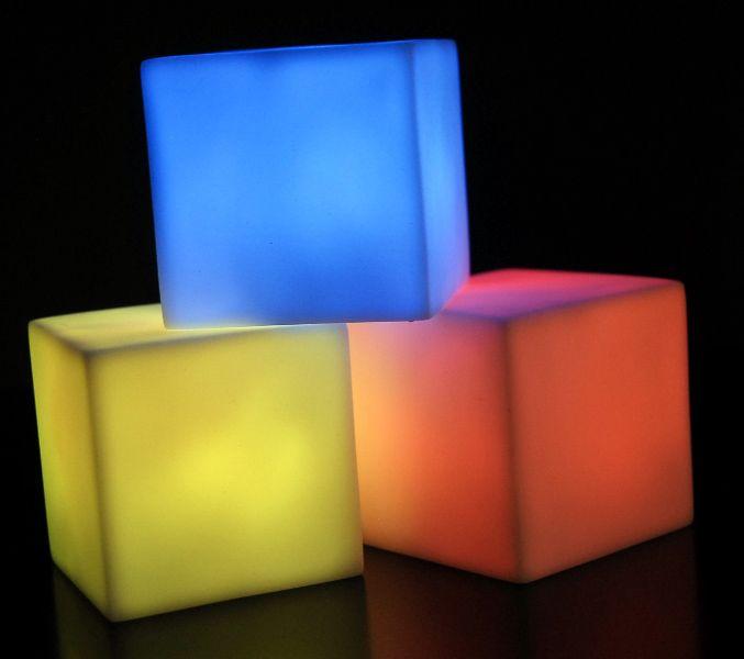 "DIY Sensory room LED Cubes 2.5"" Color Changing lights. Great price!"
