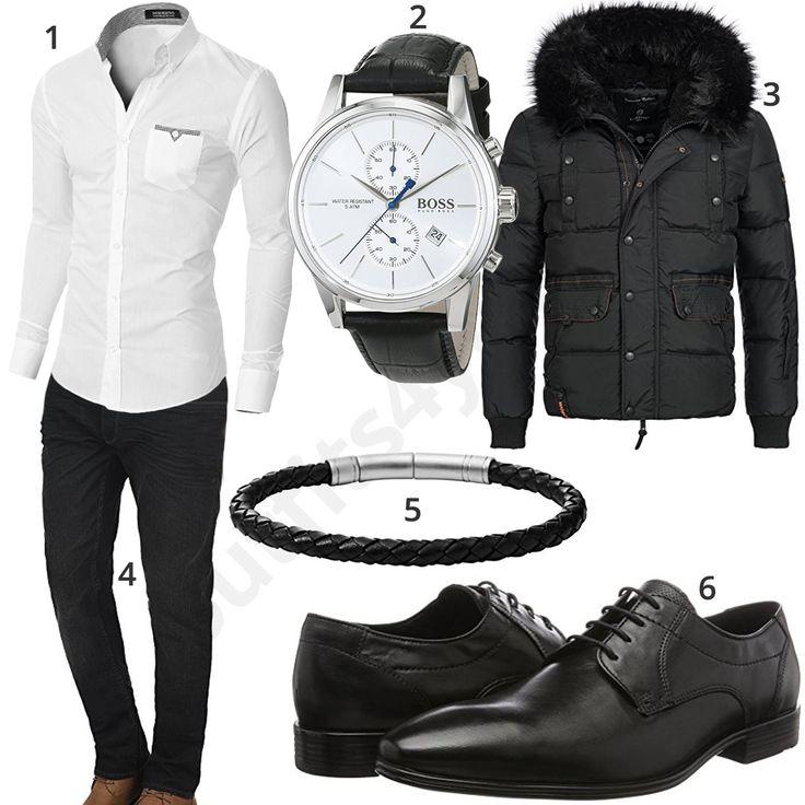 Klassischer Herren-Style mit Hemd, Uhr und Jeans (m0921) #gentlemen #hemd #business #uhr #hugoboss