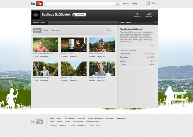 Basilicus youtube channel