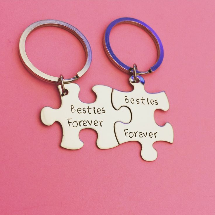 Besties forever, best friend gift, bestie gift, besties keychains, puzzle piece keychain set, friendship gift, gift for her