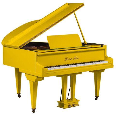 Yellow High Gloss Baby Grand Piano - Tesoro Nero - 1