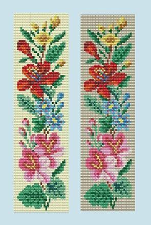 Bead Loom Floral Border 5 Bracelet Pattern PDF by MyTreasureIsland