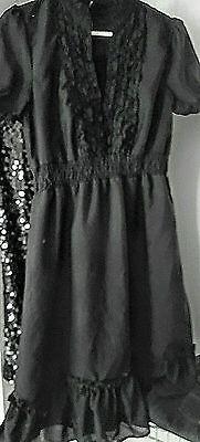 H-amp-M-Juniors-Black-Dress-siz-med