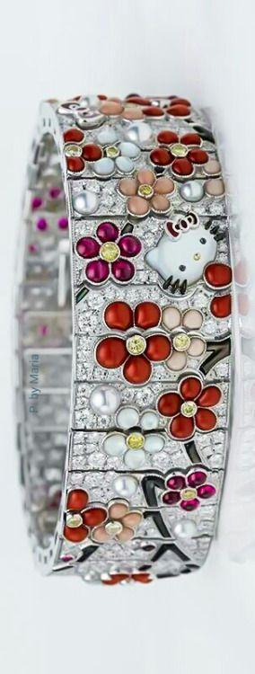 ~Hello Kitty Diamond & Pearl Bracelet | House of Beccaria