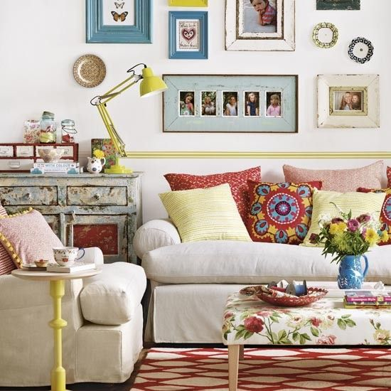 Stuck in a rut with your neutral living room? Then be bold with a boho-inspired colour treatment, guaranteed to lift the spirits