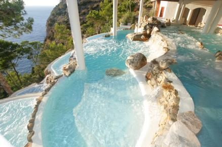 pool -- don't click to link (suspicious) -- but this reminds me of pool I've had in dreams (multi-level, white underneath)