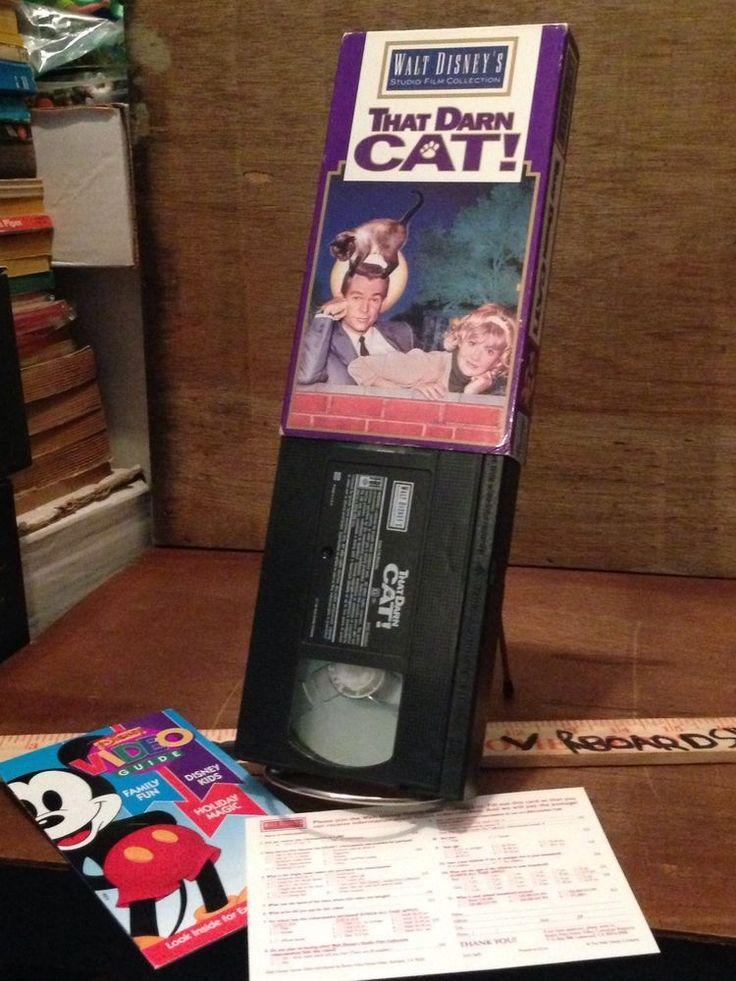 THAT DARN CAT Vintage VHS Tape HAYLEY MILLS & DEAN JONES Disney Studio Film RARE