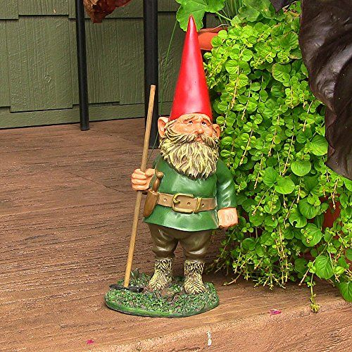 The Gnome Garden Statue   The Sunnydaze Woody Jr. The Gnome Garden Statue  Brings Humor And Whimsy To Your Lawn Or Garden. This Classically Styled  Gnome ...