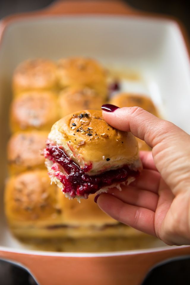 Turkey Cranberry Sliders are a quick and easy recipe to use up that leftover turkey and cranberry sauce from the holidays!