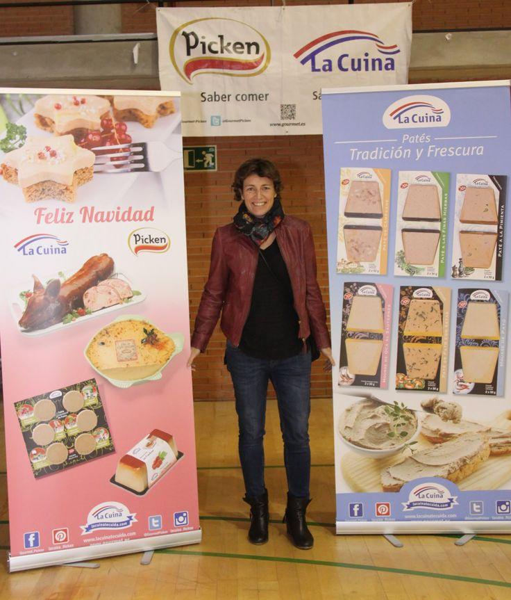 #ElisaAGuilar, jugadora profesional de baloncesto, nos acompañó en el evento de presentación del equipo #PickenClaret
