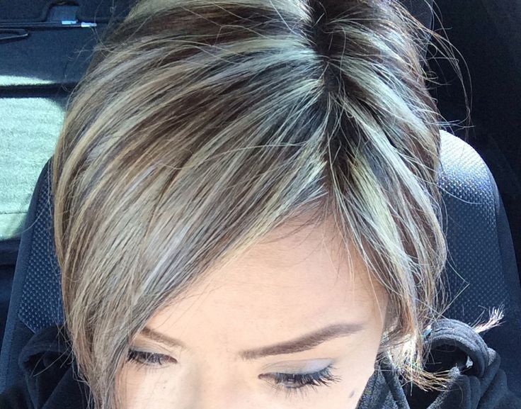 color to camouflage gray hair - Google Search · Gray Hair HighlightsPlatinum  ...