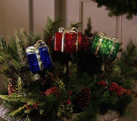 as is set of 3 holiday pathway lights by valerie - Christmas Tree Pathway Lights