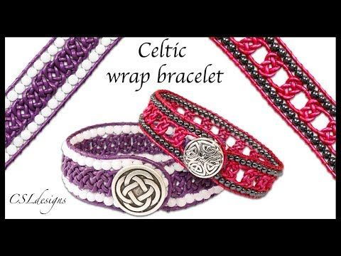 How to Celtic wrap bracelet - YouTube