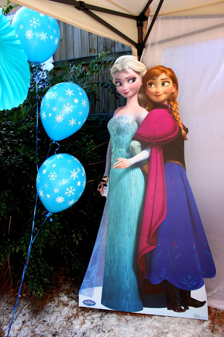 Frozen Themed Party cardboard cutouts available for purchase at My Kidz Party www.facebook.com/MyKidzParty #Frozen #parties