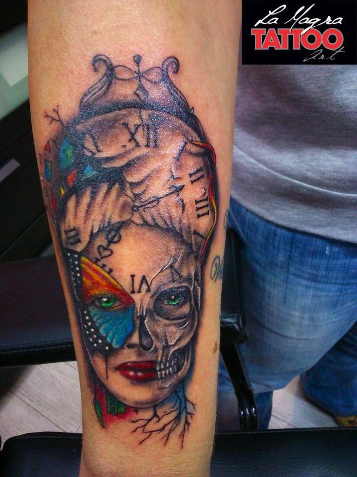 female portrait #tattoo