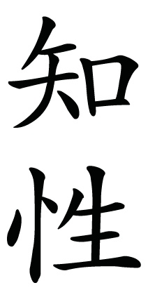 Japanese Kanji Symbol for intelligence