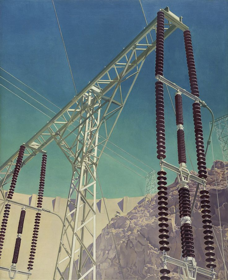 Charles Sheeler   Conversation - Sky and Earth, 1940 Oil on canvas, w58,3x h7 cm Amon Carter Museum of American Art, Fort Worth, Texas