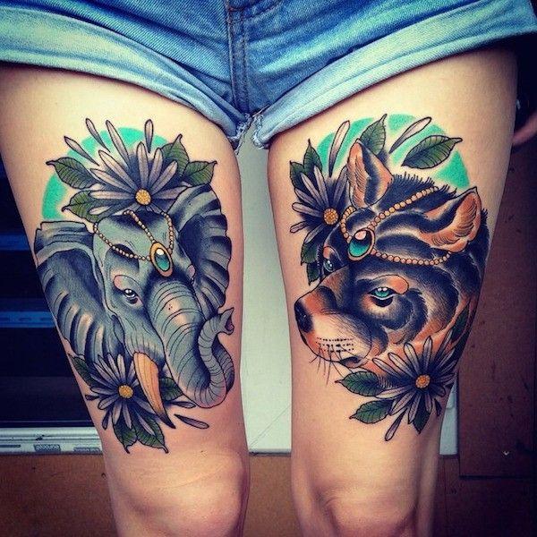 Thigh Tattoos Designs