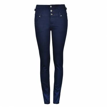 HIGH WAIST 3 BUTTONS SKINNY DENIM JEAN
