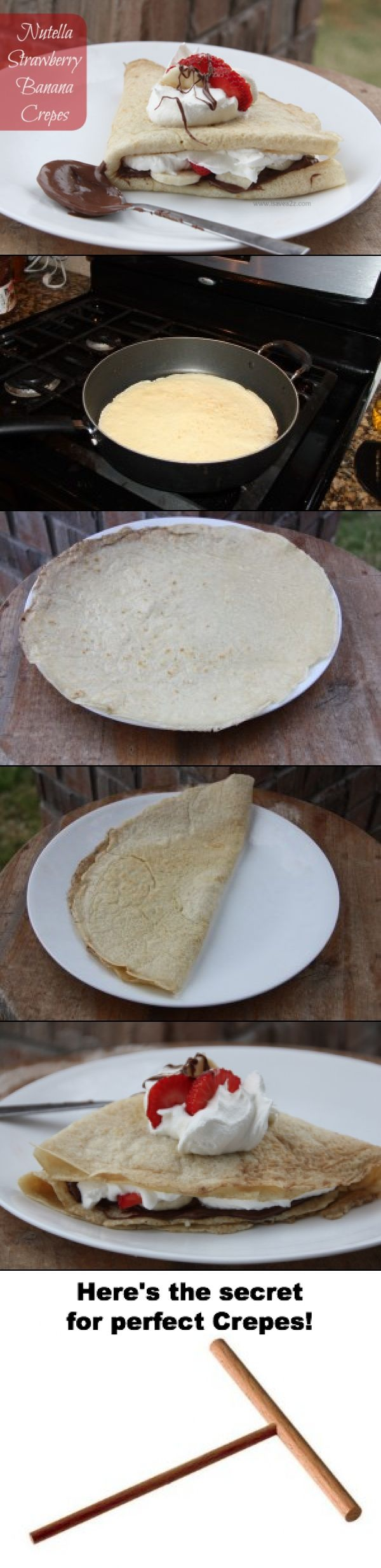 Here's the secret to crepes!  EASY PEASY!!!  #Crepes #Yummy #Recipe http://www.isavea2z.com/how-to-make-crepes/