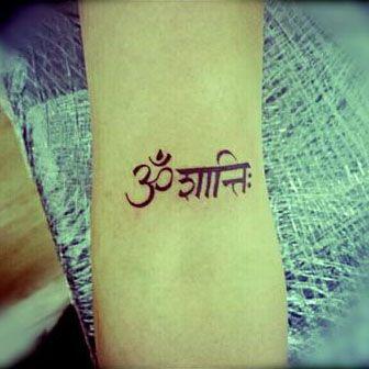'Om Shanti' Tattoo  Om Shanti is an invocation of peace