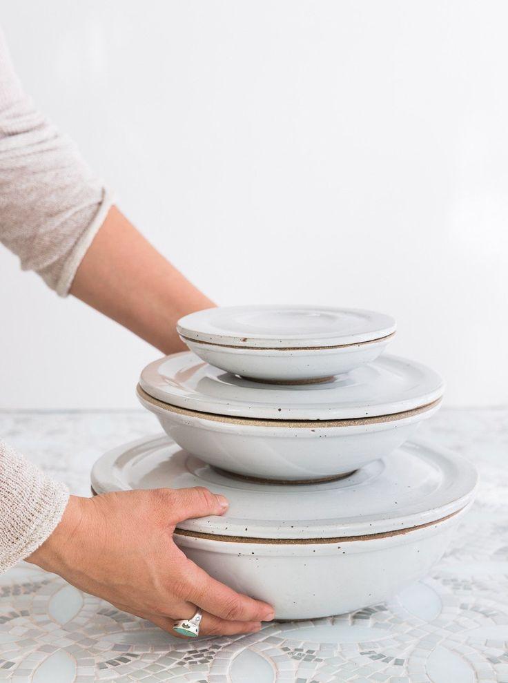 Set of Nesting Covered Bowls