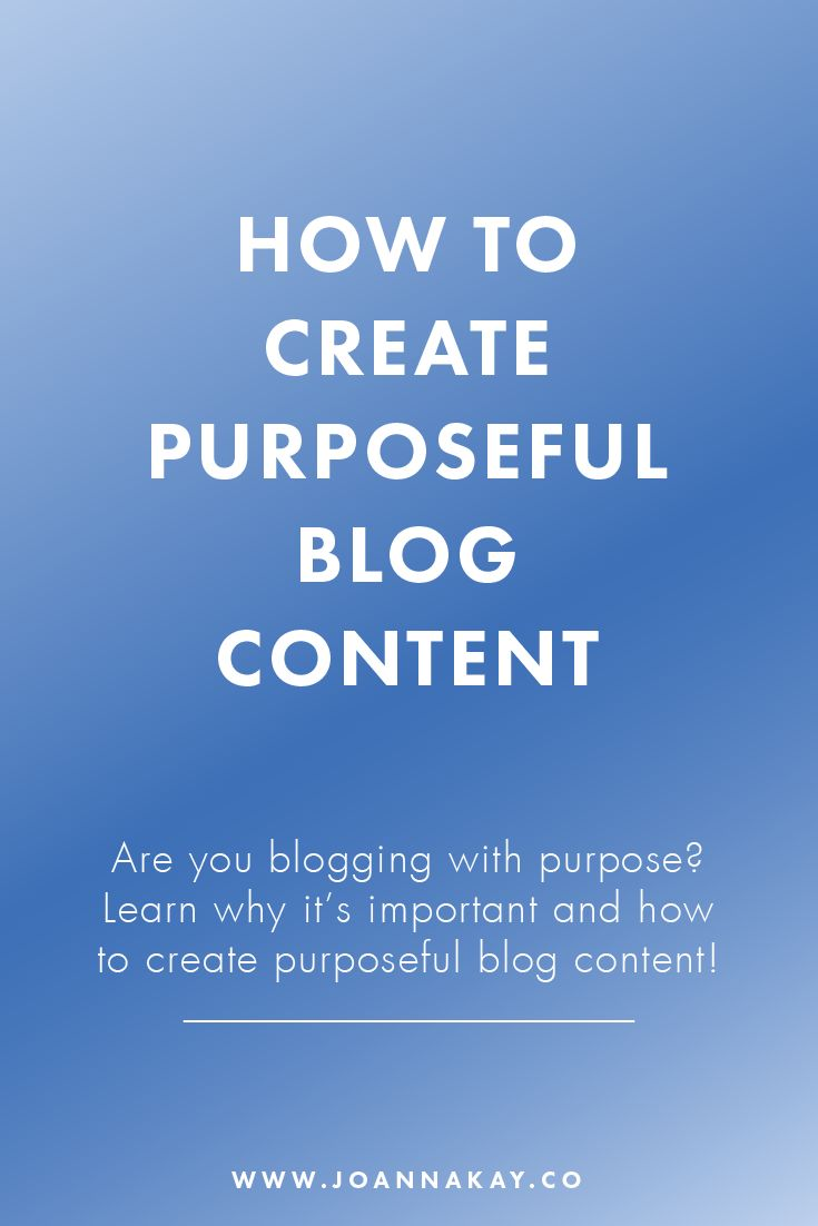 Are your blogging with purpose? Or are you falling into the trap of sitting down and writing content for the sake of getting your next blog post out on time? If your answer was the latter, this is the post for you! Just click through to learn why it's important to create purposeful blog content and how to write better posts!