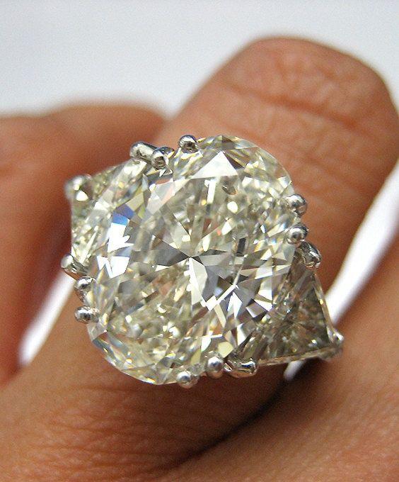 Estate Vintage 656Ct OVAL Diamond ENGAGEMENT by TreasurlybyDima, $85350.00  Absolutely stunning msjessicaelyse