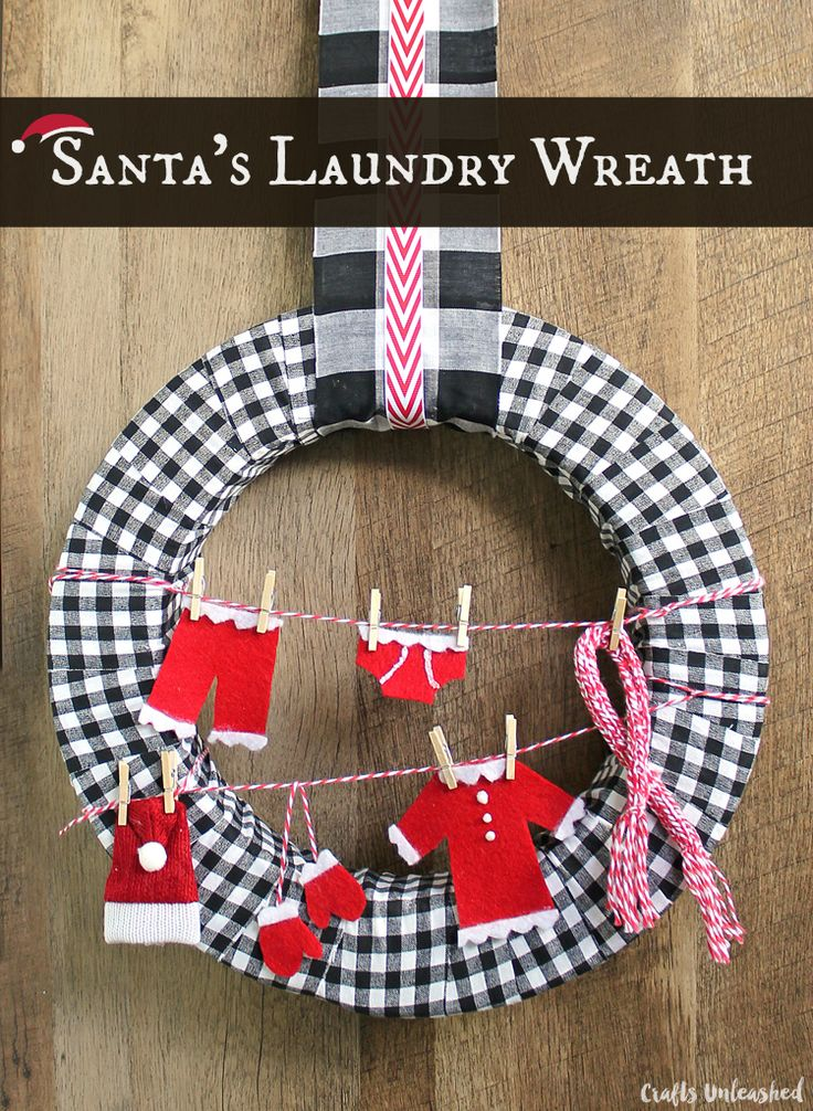 Make Your Own Christmas Decoration Part - 49: Make Your Own Santau0027s Laundry Wreath
