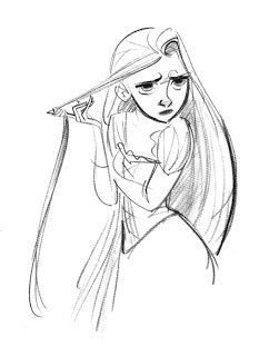 Tangled (2010) - Character: Rapunzel ★ || Art of Walt Disney Animation Studios © - Website | (www.disneyanimation.com) • Please support the artists and studios featured here by buying their artworks in the official online stores (www.disneystore.com) • Find more artists at www.facebook.com/CharacterDesignReferences and www.pinterest.com/characterdesigh || ★