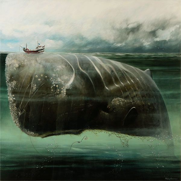 The Whale - Tracey Savage. Very nearly as terrifying as that other whale image.