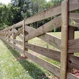Property Fence Option Criss Cross Natural Garden In